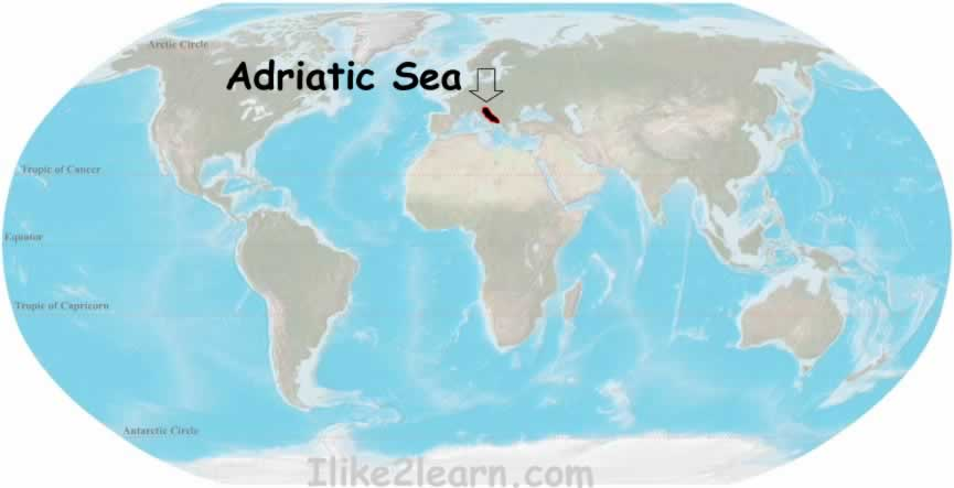 Pictures of Adriatic Sea World Map   kidskunst.info