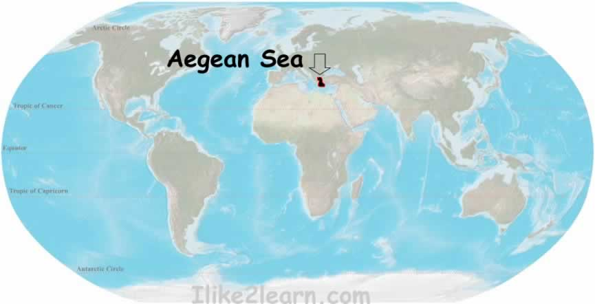 Aegean sea travel and tour the worlds oceans including the aegean sea with the world oceans and seas map quiz learn the major seas gulfs and bays of the atlantic gumiabroncs Choice Image